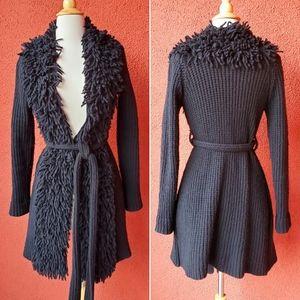 Anthropologie On The Fringe Sweater Coat
